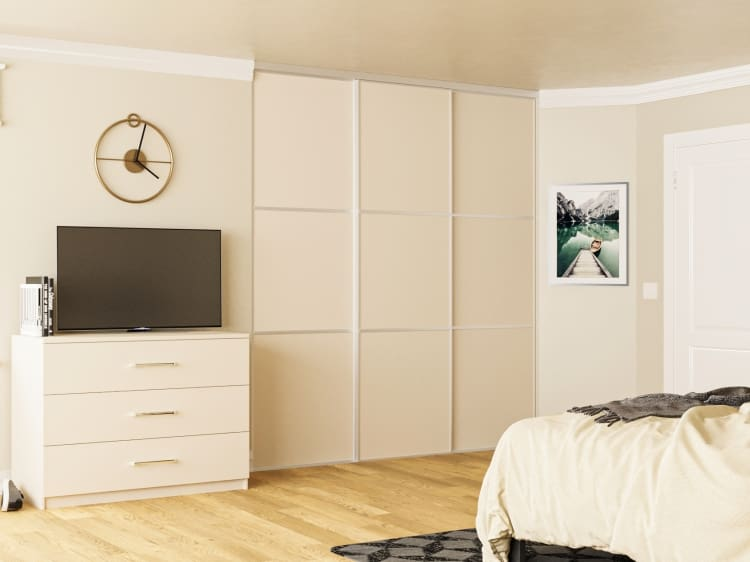 3 panel sliding door wardrobe