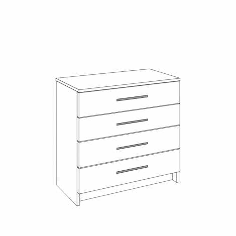 Chest of Drawers - 4 Drawers