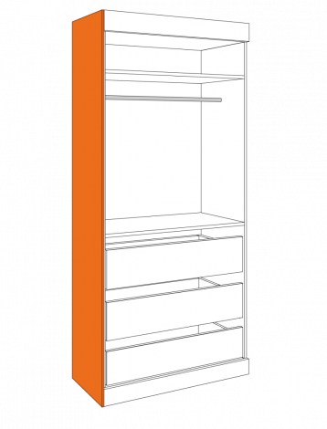 fitted wardrobe end panel