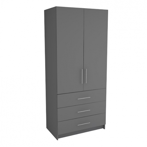 Double Wardrobe - 3 Drawers
