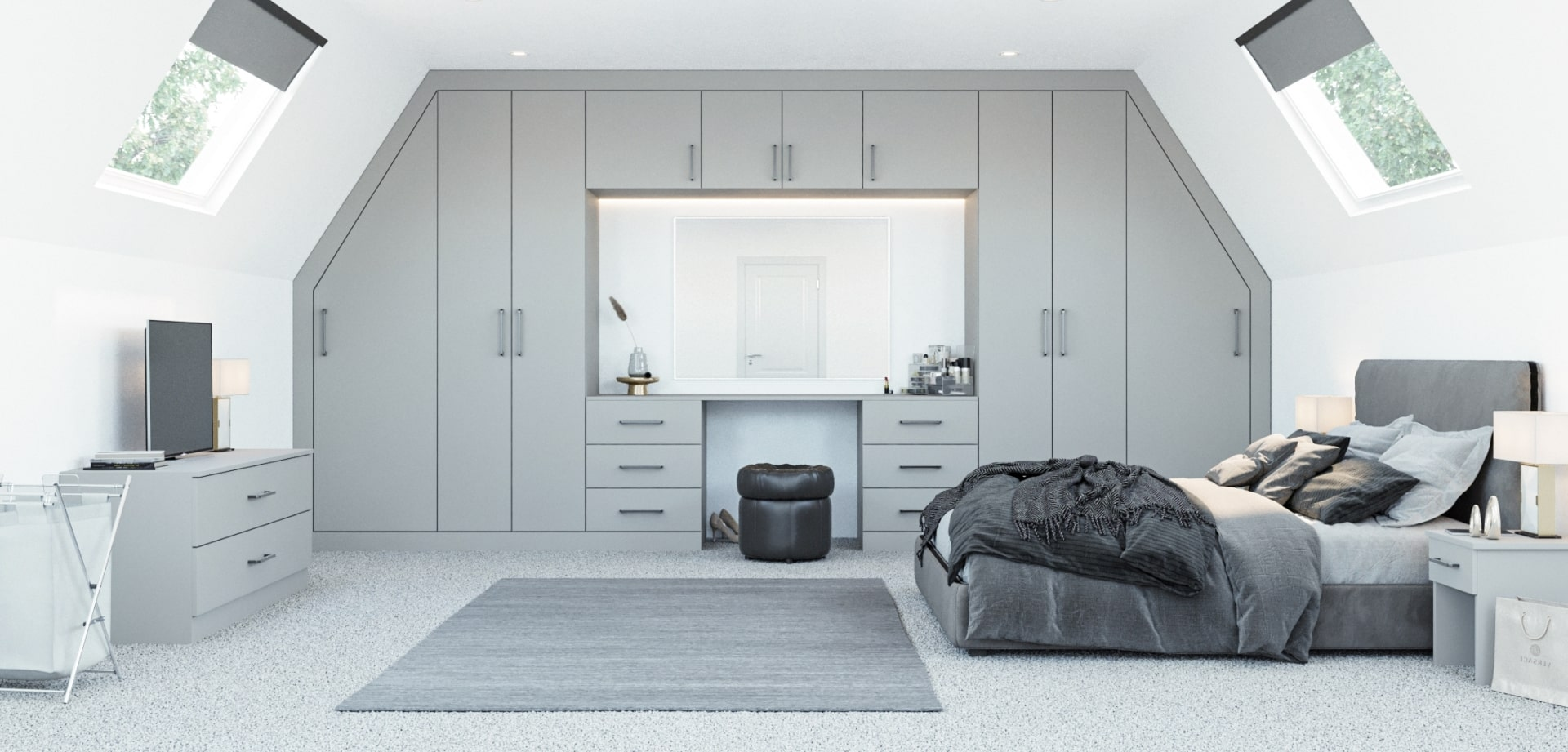 Angled Fitted Wardrobes Sloping Roof Or Loft Conversion Online Bedrooms