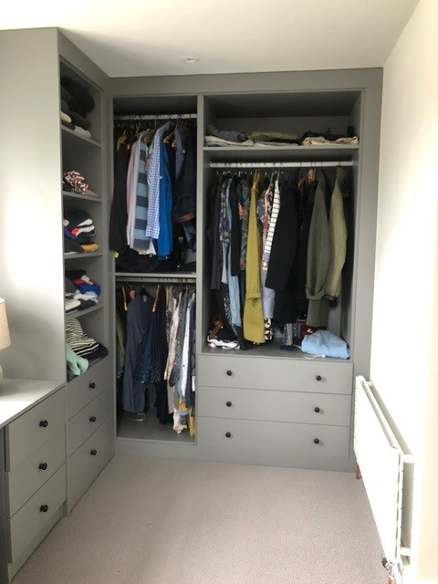 grey corner fitted wardrobe