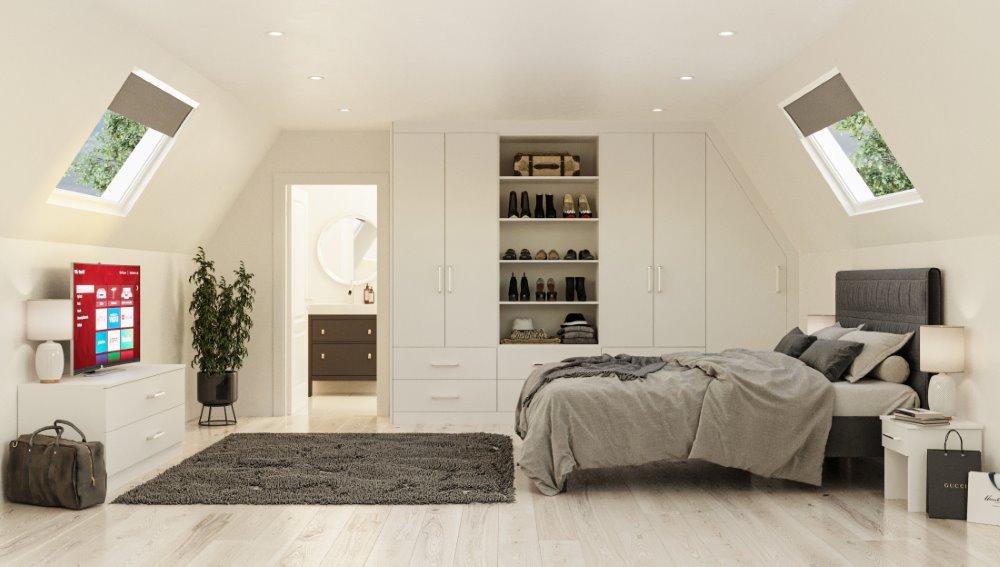 loft conversion fitted wardrobe