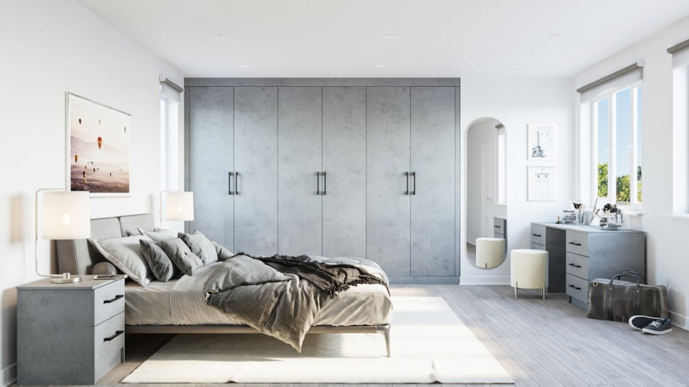 concrete fitted wardrobe