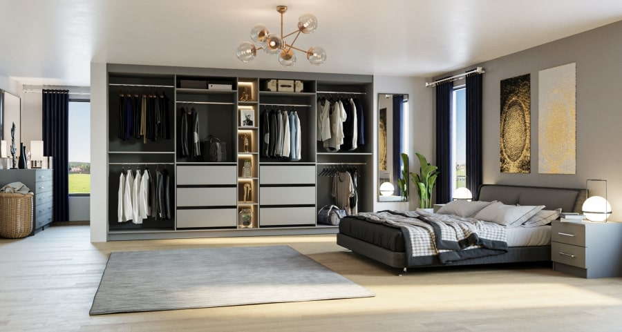 planning inside fitted wardrobe