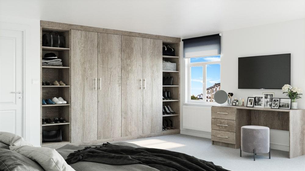 grey oak wardrobe