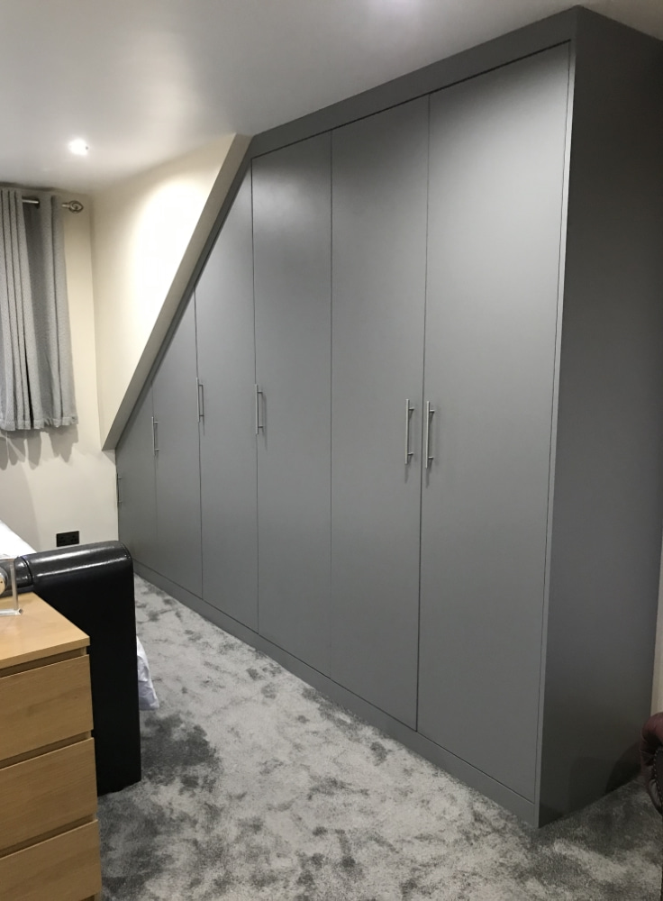 angled fitted wardrobe