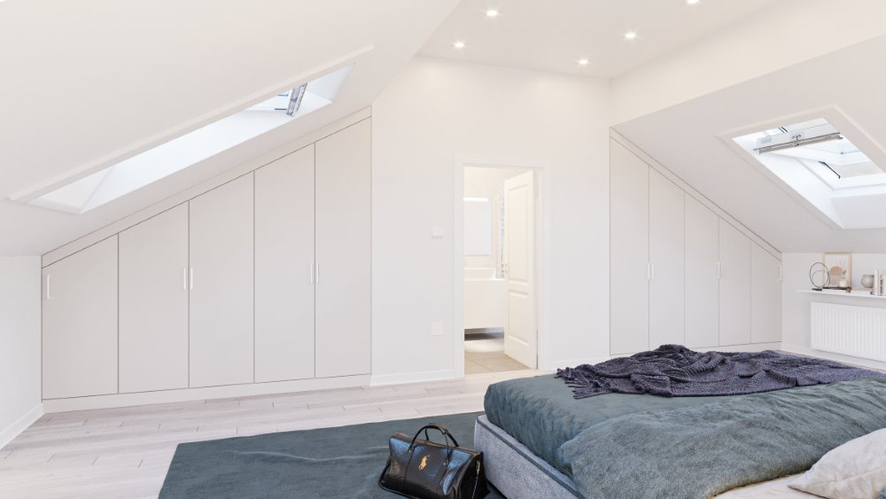 fitted wardrobe in a loft conversion