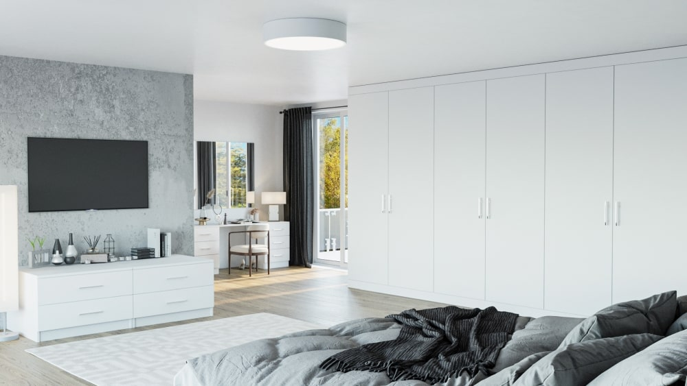 light grey fitted bedroom
