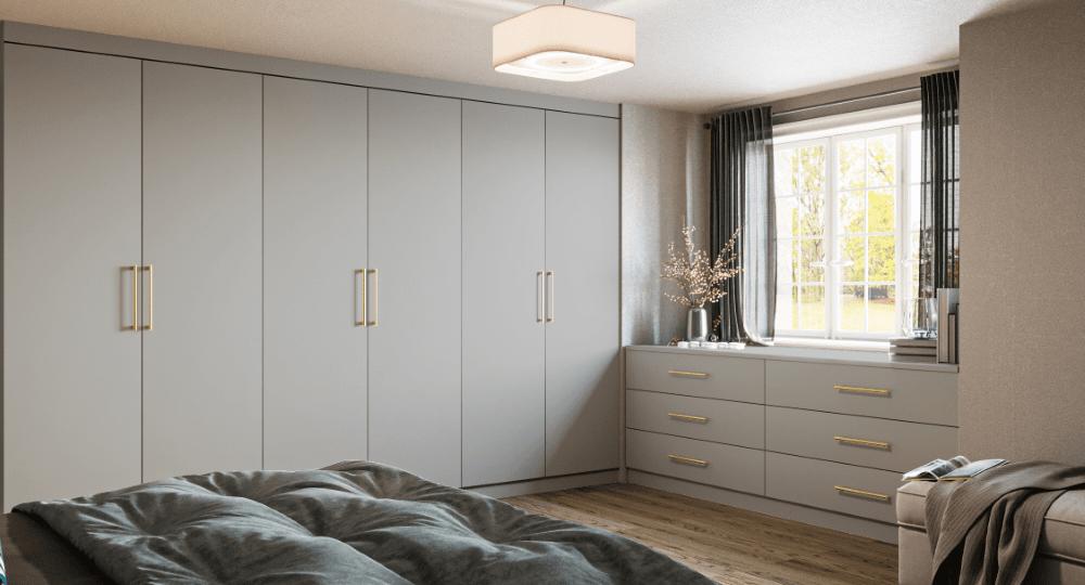 grey fitted wardrobe