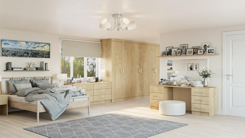 natural oak wardrobe