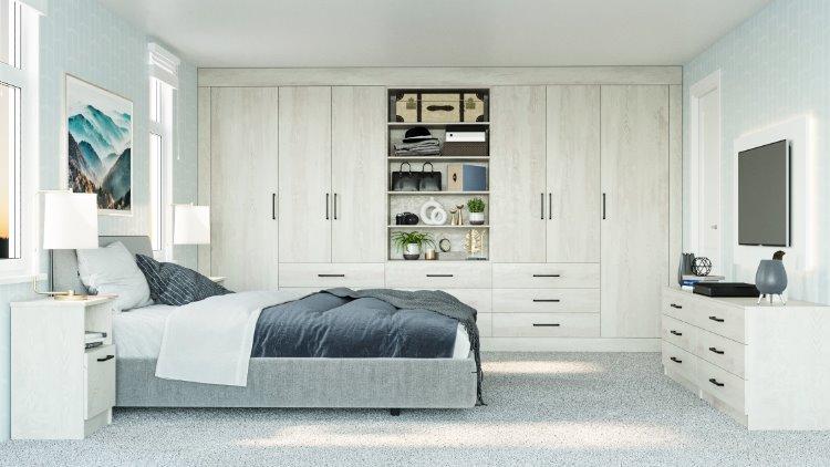 white pine fitted wardrobe