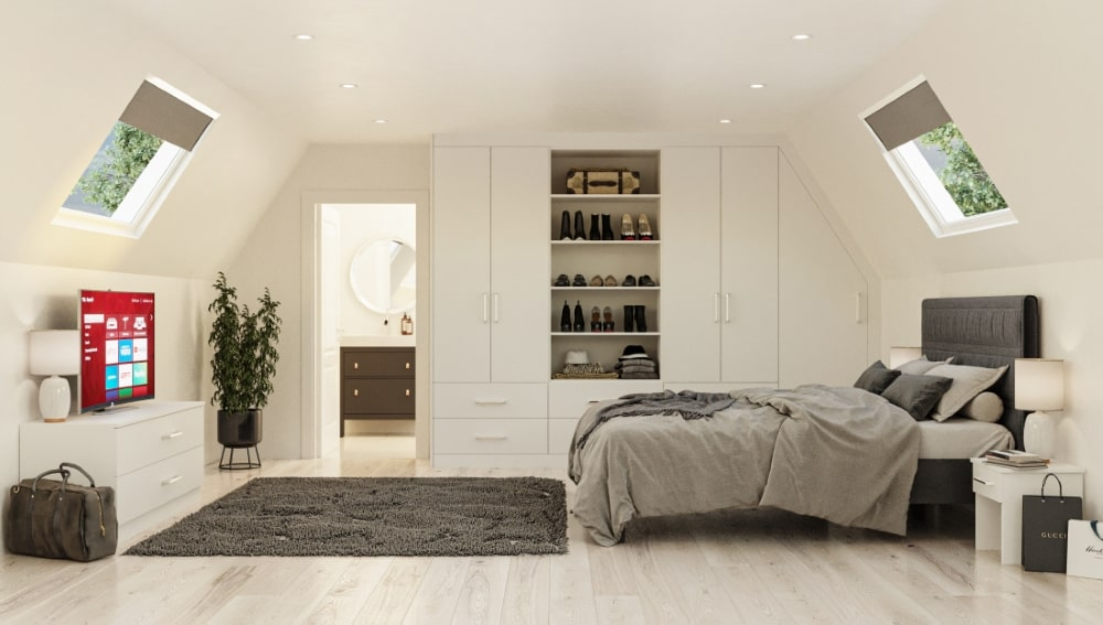 sloping roof wardrobes