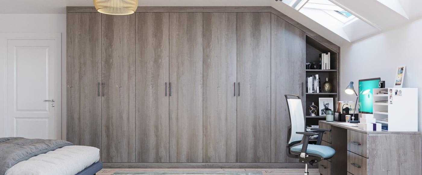 grey oak fitted wardrobe